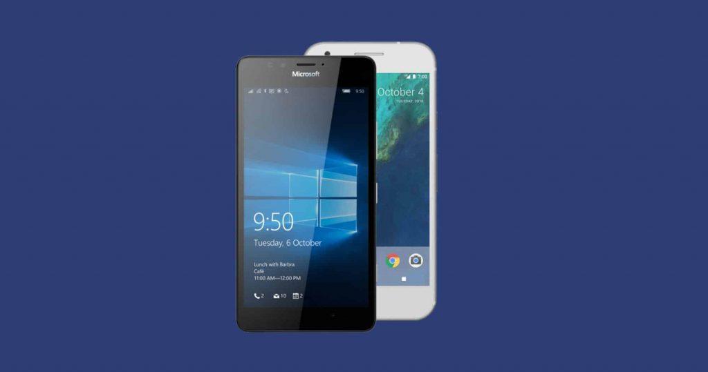 Google-And-Microsoft-Phones