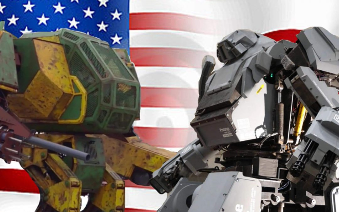 Tech Companies Build Giant Robots To Battle Each Other